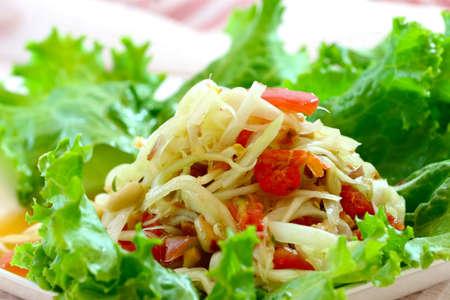 green papaya salad,Thai cuisine