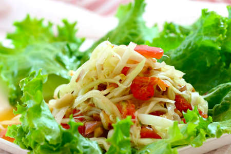 Salade de papaye verte, cuisine tha�landaise