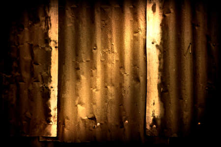 corrugated: Abstract generated rust metal surface background Stock Photo