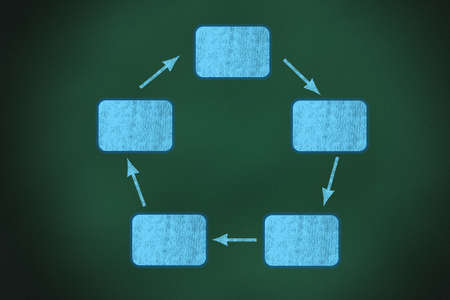 Diagramme de flux de processus sur le tableau,