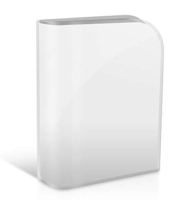 Livre blanc avec couvercle blanc sur fond blanc