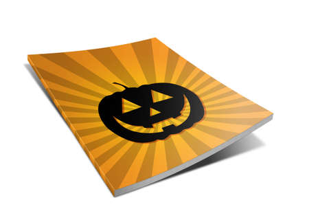 Blank book with halloween cover on white background  Stock Photo