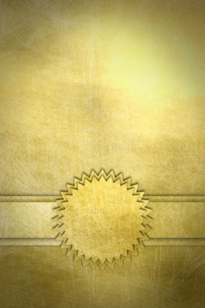 bronze background: abstract cards with scratch surface