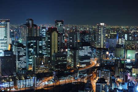 osaka japon paysage de nuit