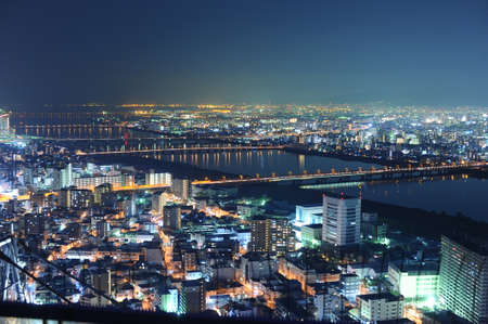 osaka japan night landscape  photo