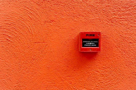 fire alarm switch on the wall