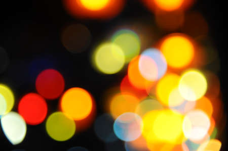 christmas paste: city lights in the background with blurring lights