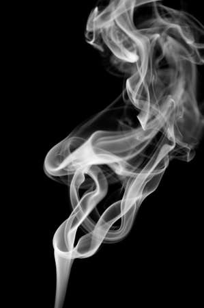 black smoke: Abstract smoke isolated on black