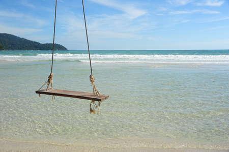 swing chair on the beach  Thailand