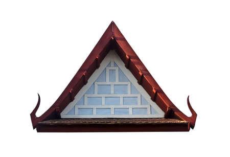 Gable end of ancient thai style pavilion Stock Photo