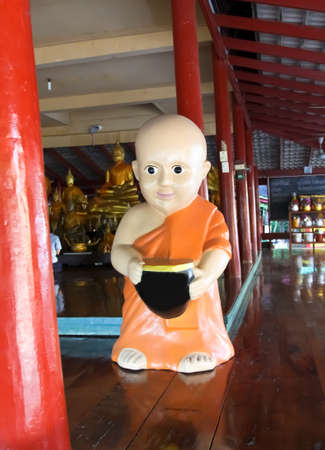Buddhist novice statue