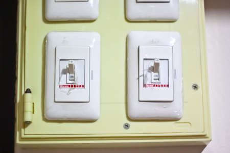 off on: On and Off switches Stock Photo