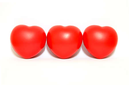 radiosity: Red heart on white background (isolated)