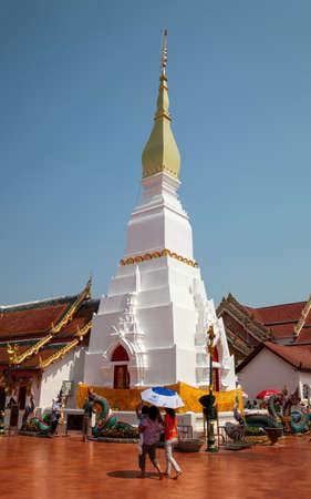 chum: SAKON NAKHON,THAILAND-APRIL 13,2015: Wat Pratat Choeng Chum, Ancient Temple in Sakonnakorn, Thailand.