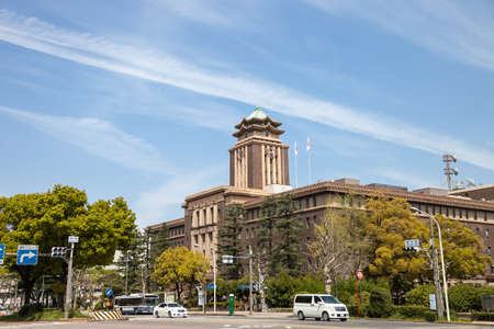 日本: NAGOYA JAPAN - 10 April, 2016:Nagoya City Hall building and the clock tower. Nagoya is the third largest city in Japan and the largest in the Chubu region.