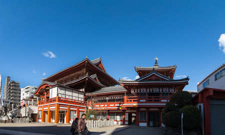 NAGOYA, JAPAN - January 24: Osu Kanon Temple in Nagoya., Osu Kanon is a buddhist temple (Shingon sect) and its history started in 1333. Editorial