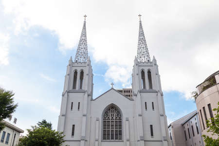 gothic revival: Nunoike Catholic Church, Cathedral of St. Peter and St. Paul in NAGOYA, Japan
