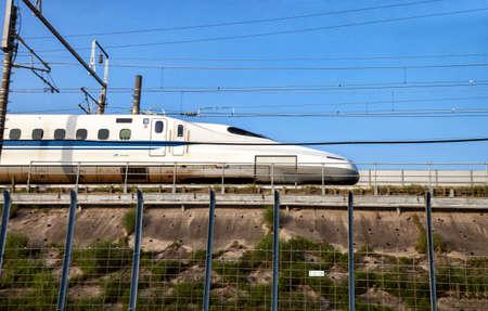 Nagoya, JAPAN - May 02, 2016 : A Shinkansen bullet train in Japan on May 02, 2016 in Nagoya, Japan. Editorial