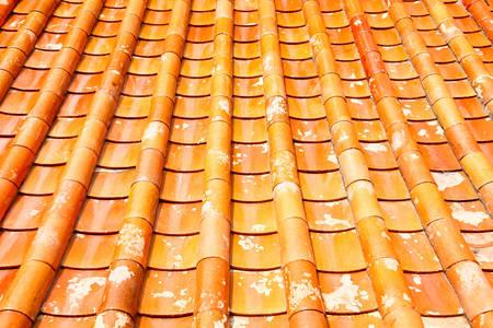 タイの寺院の瓦屋根。