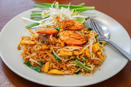 Pad Thai Goong Sod,Fried Rice Sticks with Shrimp.
