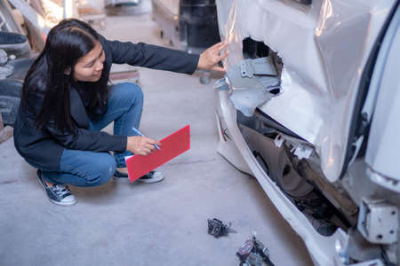 Car service center staff ,Check for car insurance claims ,To repair
