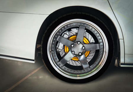 The brake system of a sport car
