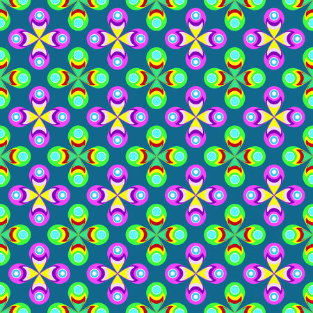 sixties: Sixties colorful floral pattern
