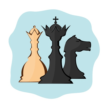 Illustration image of chess pieces Stock Vector - 12821634