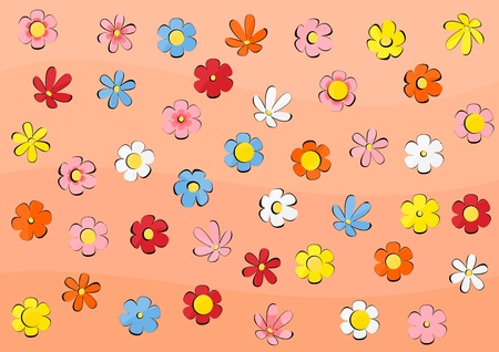 Vector wallpaper with flowers Stock Vector - 12978129