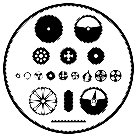 A vector image templates gears Stock Vector - 12978128