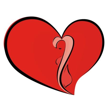 Woman in heart