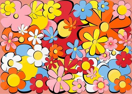 Texture with flowers Векторная Иллюстрация
