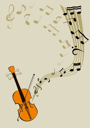 songbook: Violin and notes