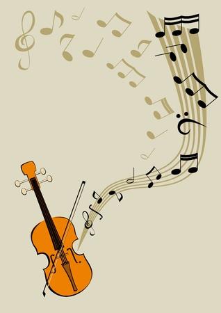 hymnal: Violino e note Vettoriali