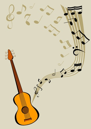 songbook: Quitar and notes Illustration