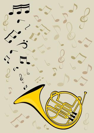 hymnal: Corno francese e note