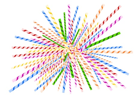 Straws littered as jackstraws