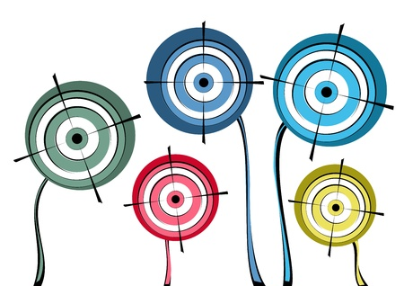 Group of targets displayed like flowers.
