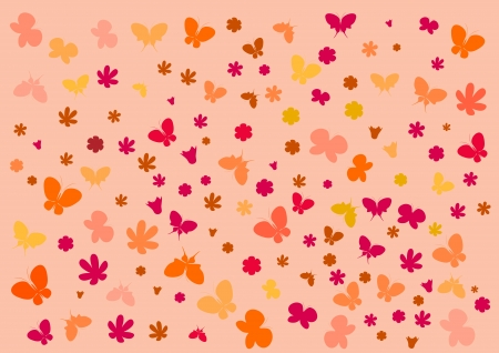 Wallpaper with butterflies Illustration