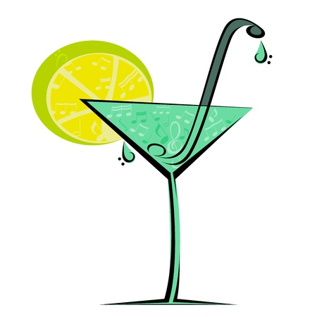 Image drink with notes Illustration
