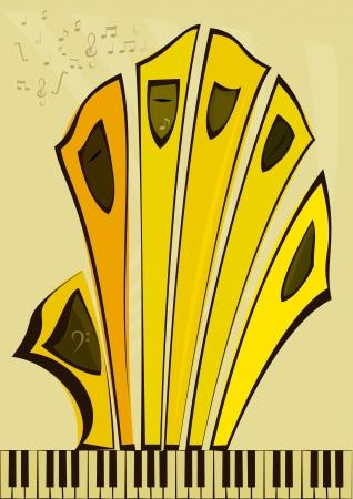 Imagen abstracta del órgano