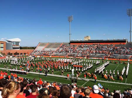 homecoming: BGSU marching band performs at half time