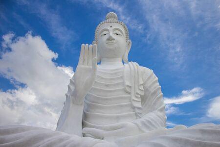 at white: White Buddha