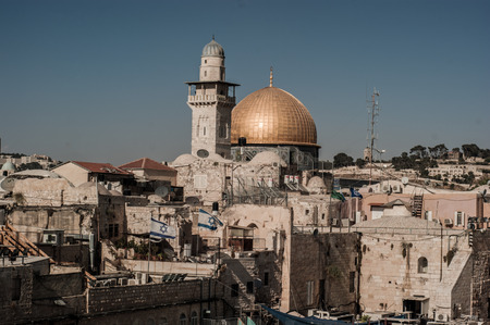 Rooftop View on Mousque of Al-aqsa in Old Town, Jerusalem, Israel