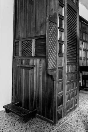 church confessional wood little town