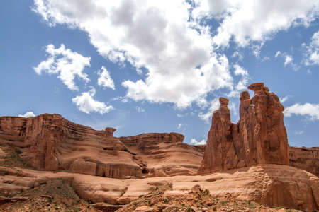 red mountain, rare formations, arches national park