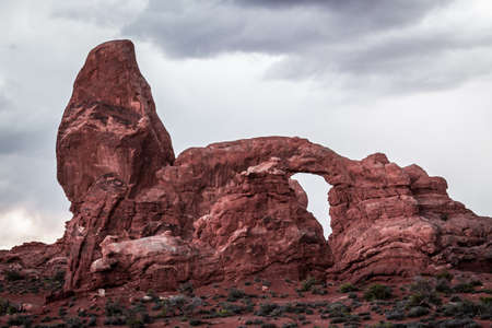 windows sections, red mountain, rare formations, arches national park Stockfoto