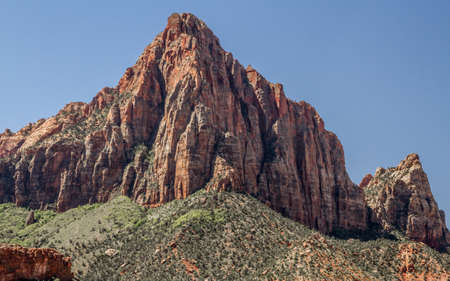 red rocks mountains at zion national park