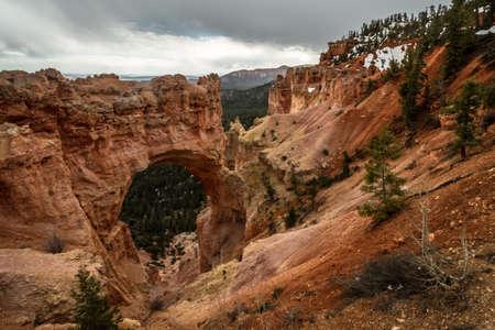 natural arch at bryce national park