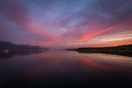 sunset over the sea Stockfoto